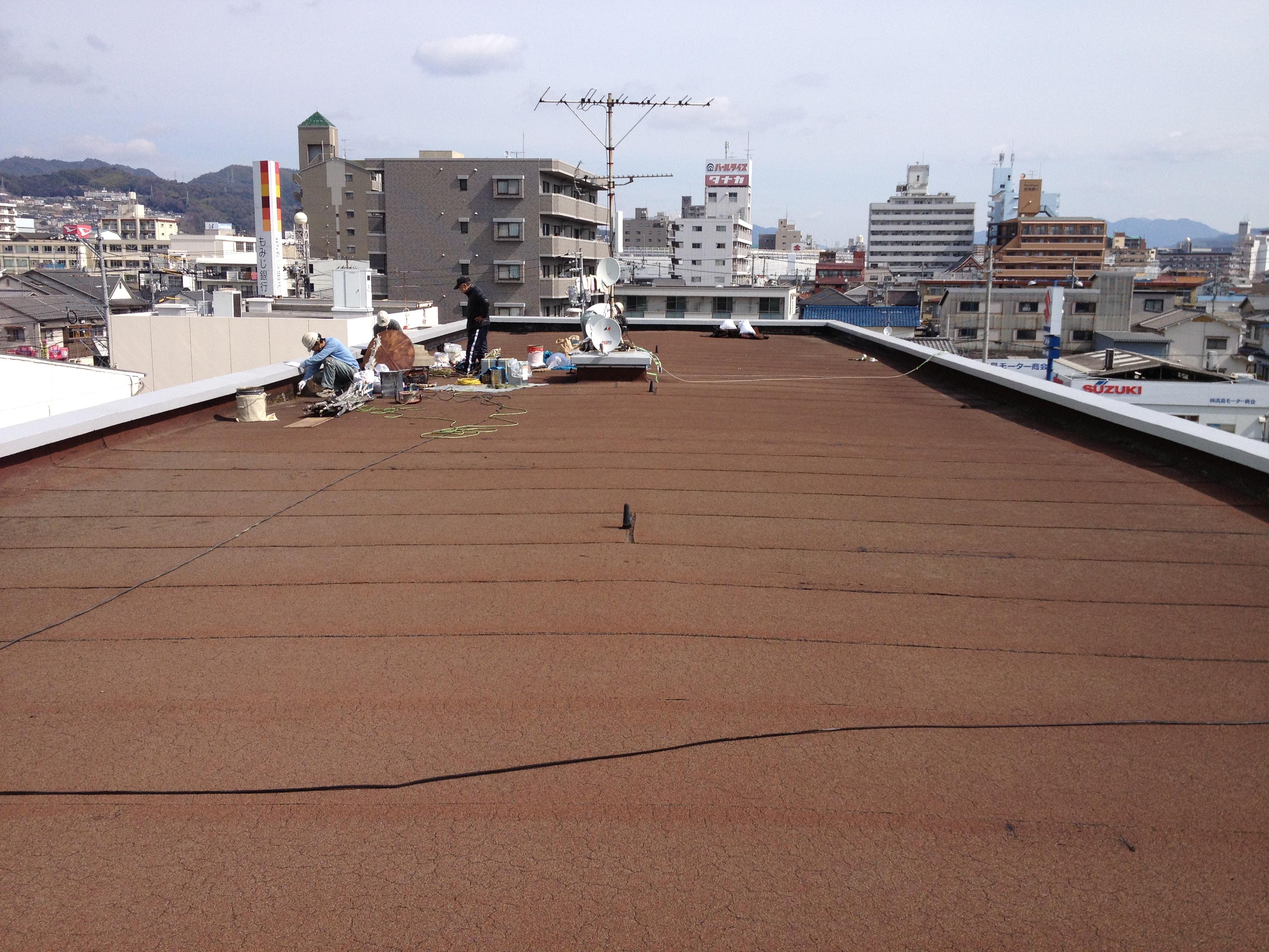 広島市西区観音Oビル屋上防水改修