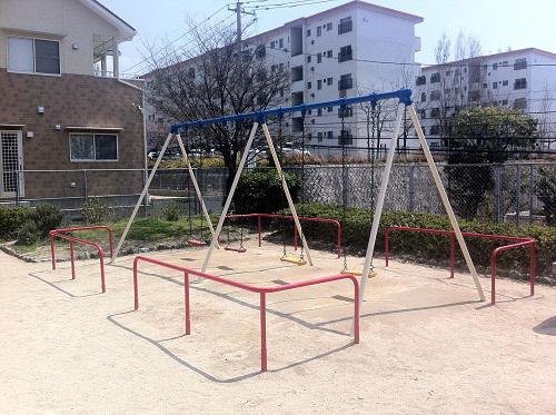 広島市東区公園遊具G(鉄部塗装)