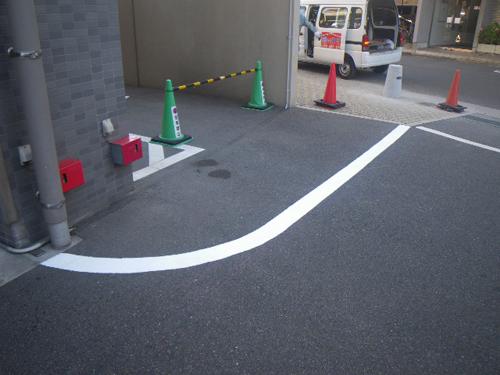 広島市中区Sマンション(ライン引き)